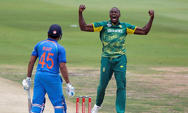 Kagiso Rabada (right) has five demerit points against his name now