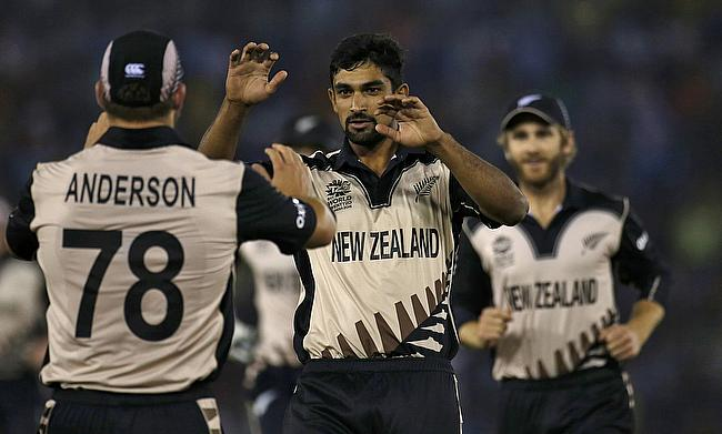 Ish Sodhi (centre) last played for New Zealand in ODIs in May last year