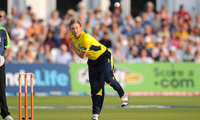 Liam Dawson impressed with a three-wicket haul
