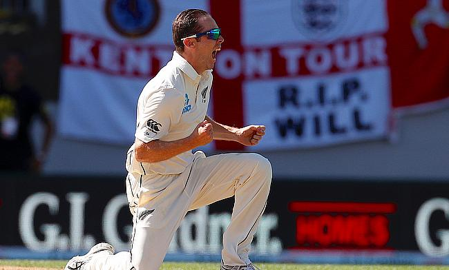 Todd Astle picked three wickets in the second innings of Auckland Test