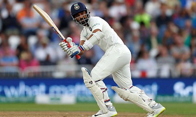 Cheteshwar Pujara in action batting