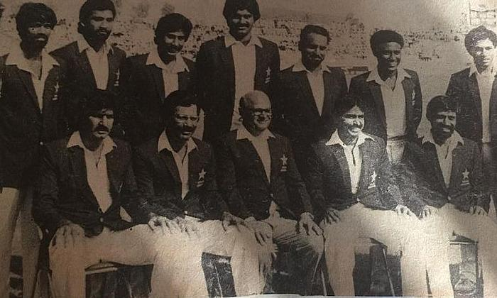 1983-84 Asia Cup Squad -  Standing third.- (L to R) in Sharjah.