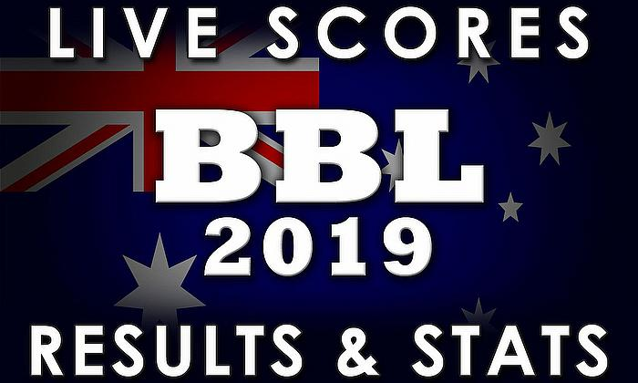 Live Cricket Streaming Scores - Big Bash League 2018/19 - BBL 08