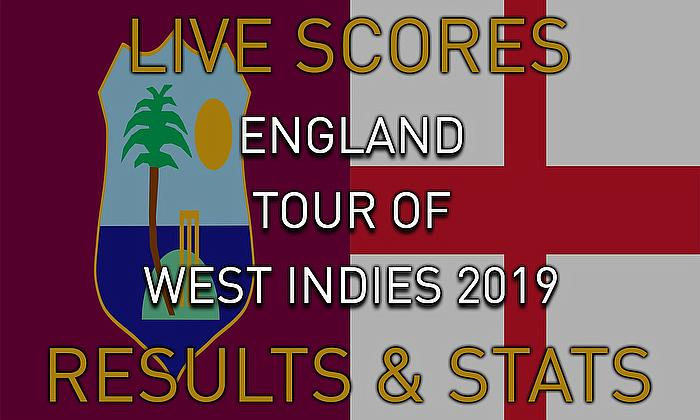 Live Cricket Streaming Scores - West Indies v England 2019