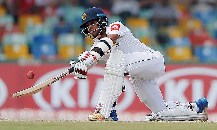 Sri Lanka's Kusal Mendis plays a shot