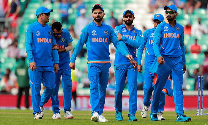 India's players at the end of the match