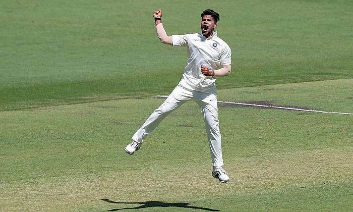 India's Umesh Yadav celebrates