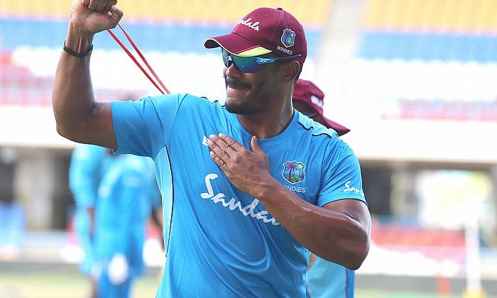Shannon Gabriel running in to bowl
