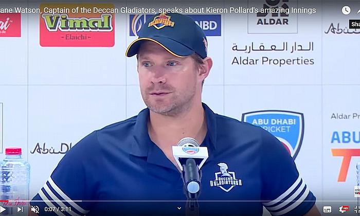 Shane Watson, Captain of the Deccan Gladiators, speaks about Kieron Pollard's amazing Innings