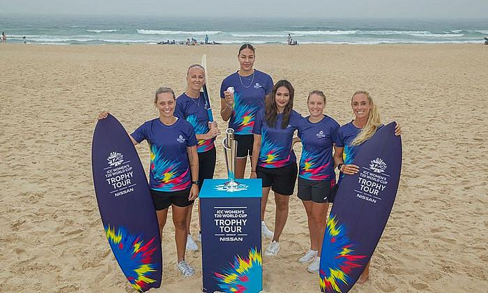 ICC Women's T20 World Cup 2020 Trophy Tour Launches at Bondi Beach