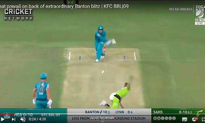 Brisbane Heat prevail on back of extraordinary Banton blitz | KFC BBL|09