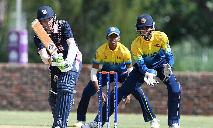 Kento Dobell of Japan during the ICC U19 Cricket World Cup Group A match between Sri Lanka and Japan