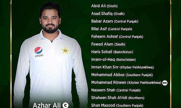 Pakistan Names 16-player Squad for Rawalpindi Test