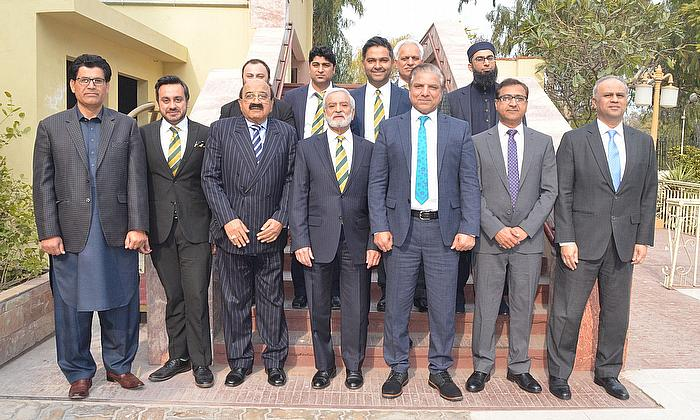 PCB BoG members pose for a photo during the 57th meeting - PCB
