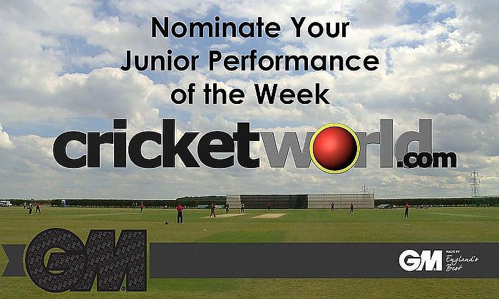 Cricket World GM Junior Performance of the Week for 2020