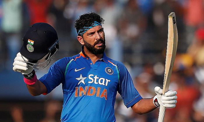 Celebrating Player of the Tournament Yuvraj Singh on 9th anniversary of India's 2011 World Cup win
