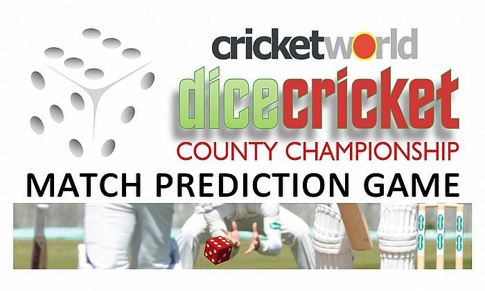 Cricket World Dice Cricket County Championship: Cricket Match Predictions Competition
