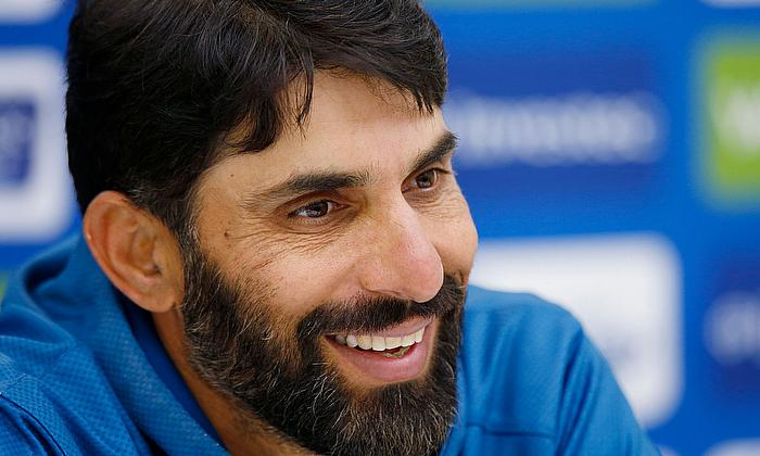 Misbah-ul-Haq speaks to press shortly after men's contract announcements for 2020-21 season