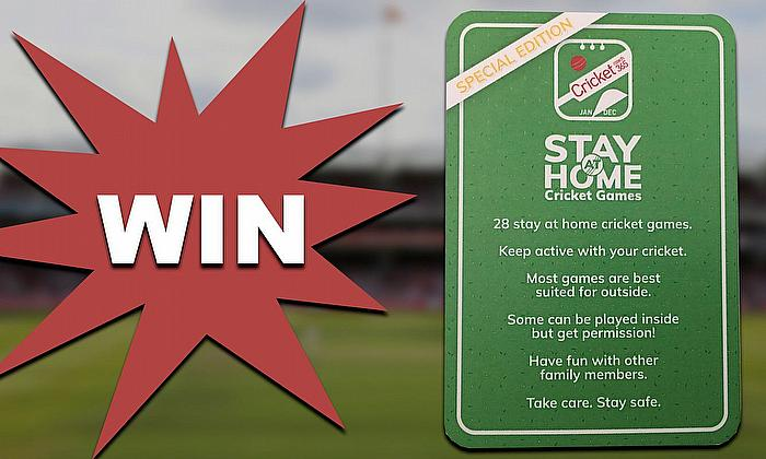 Win a pack of Cricket Coach 365's Stay at Home Activity Cards