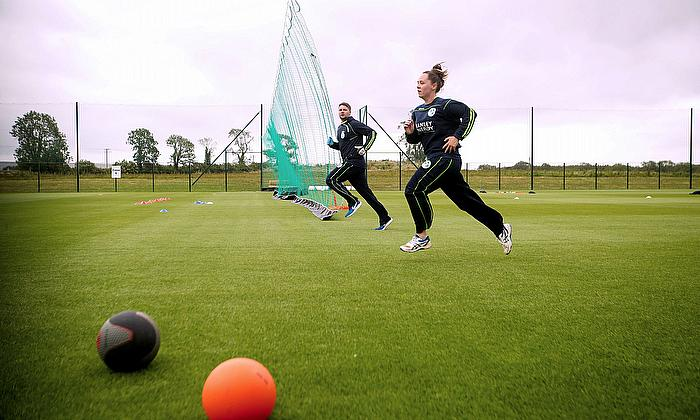 Delany and Joyce delighted to be back in training ahead of a possible World Cup Qualifier