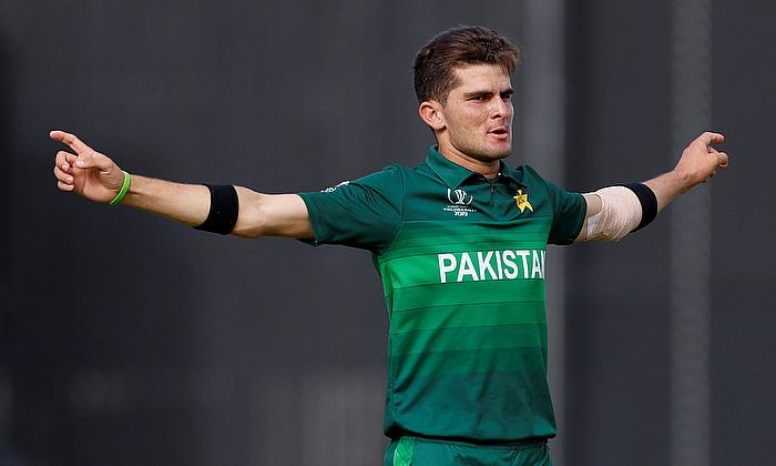Shaheen Afridi speaks with media today