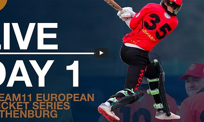 Live European Cricket Series Gothenburg Day 1 | Cricket Live Streaming