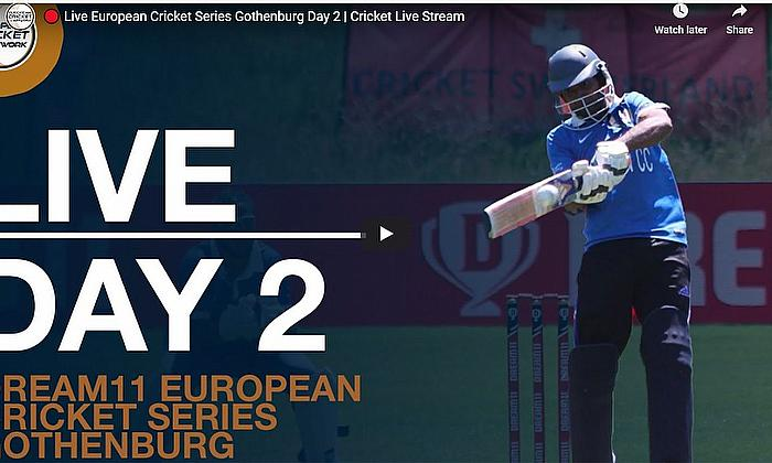 Live European Cricket Series Gothenburg Day 2 | Cricket Live Streaming