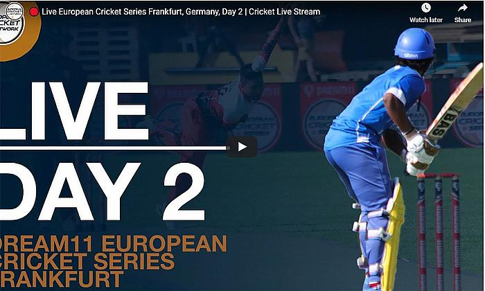 Live European Cricket Series Frankfurt, Germany, Day 2 | Cricket Live Stream