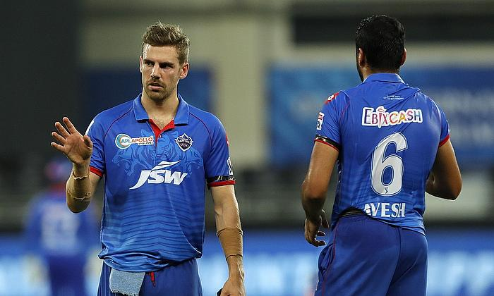 Anrich Nortje and Avesh Khan of Delhi Capitals
