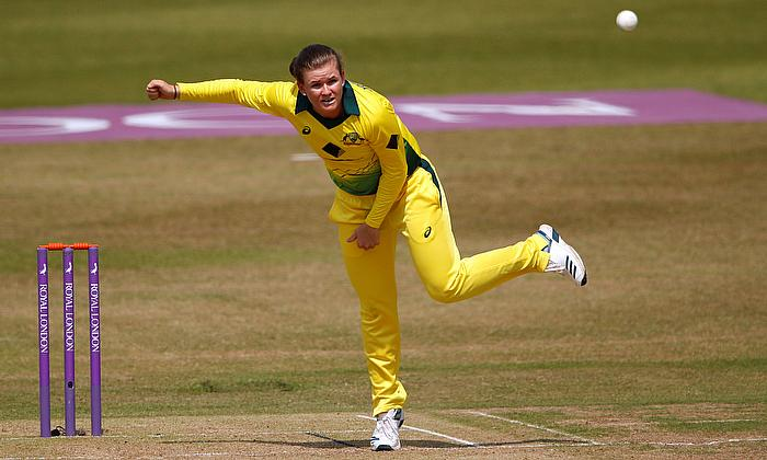 Australia's Jess Jonassen in action