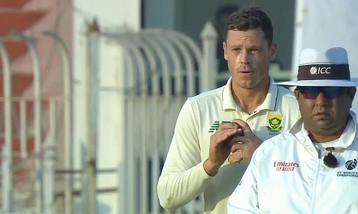 George Linde 3-12 off 9 overs for South Africa today