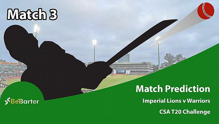 CSA T20 Challenge 2021- Imperial Lions vs Warriors- Match 3