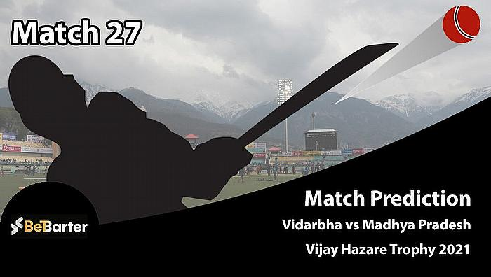 Vijay Hazare Trophy 2021 - Vidarbha vs Madhya Pradesh, Round 2, Elite Group B