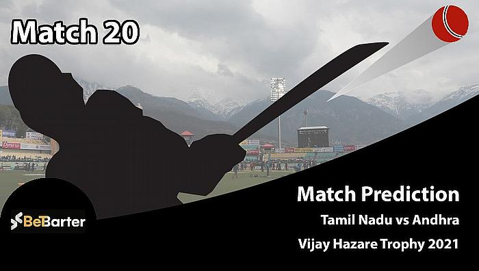 Vijay Hazare Trophy 2021 - Tamil Nadu vs Andhra, Round 2, Elite Group B