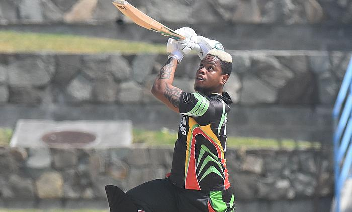 Shimron Hetmyer hits a six over cover