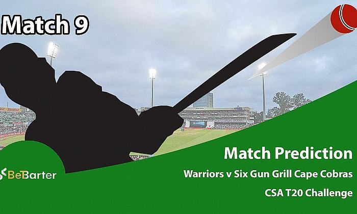 CSA T20 Challenge 2021- Six Gun Grill Cape Cobras vs Warriors- Match 9