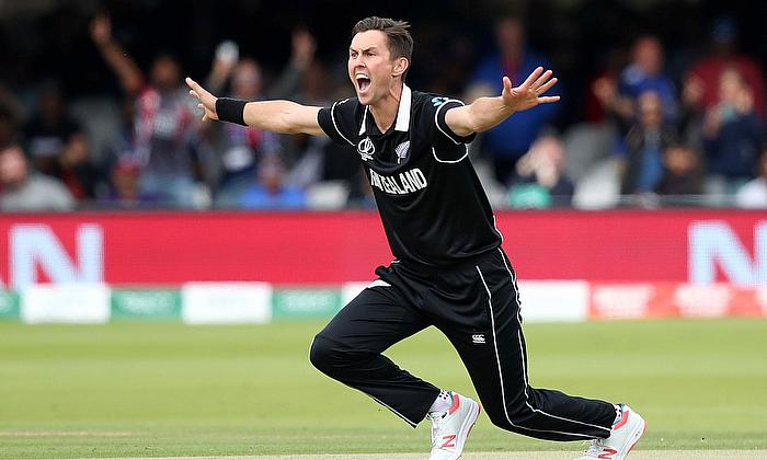 New Zealand's Trent Boult appeals for a wicket