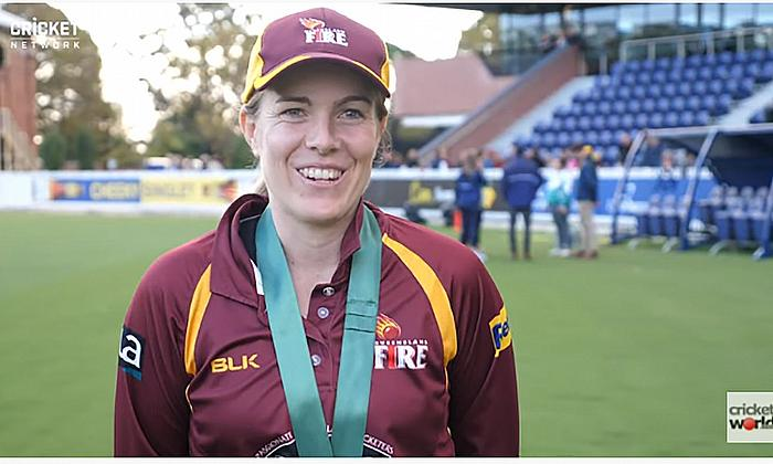 Queensland captain Georgia Redmayne earned Player of the Final honours after carrying her bat to an unbeaten 134, laying the platform for her side's m