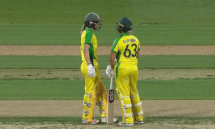 Ashleigh Gardner 73* and Ellyse Perry 23*