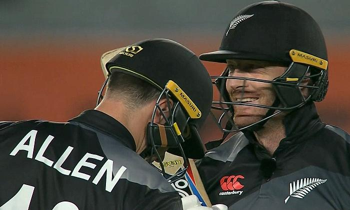Martin Guptill 44 and Finn Allen 71 were the main run getters for New Zealand
