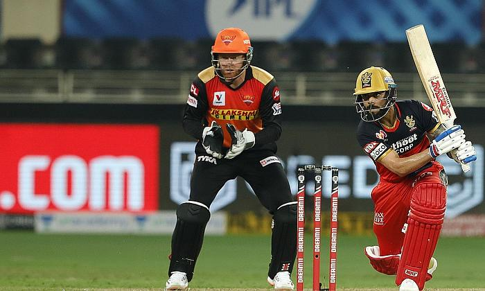 Virat Kohli of Royal Challengers Bangalore batting during match