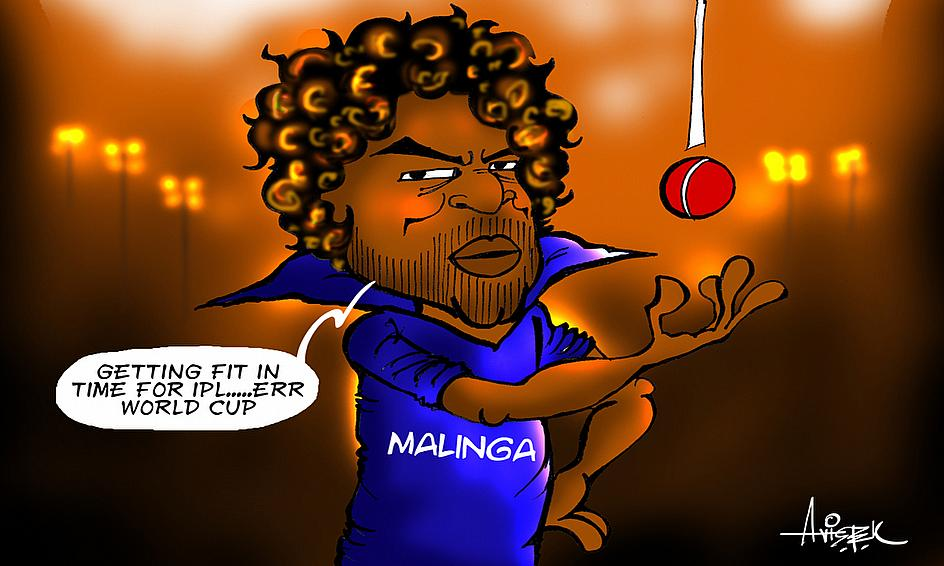 Cartoon Malinga S World Cup Warm Up