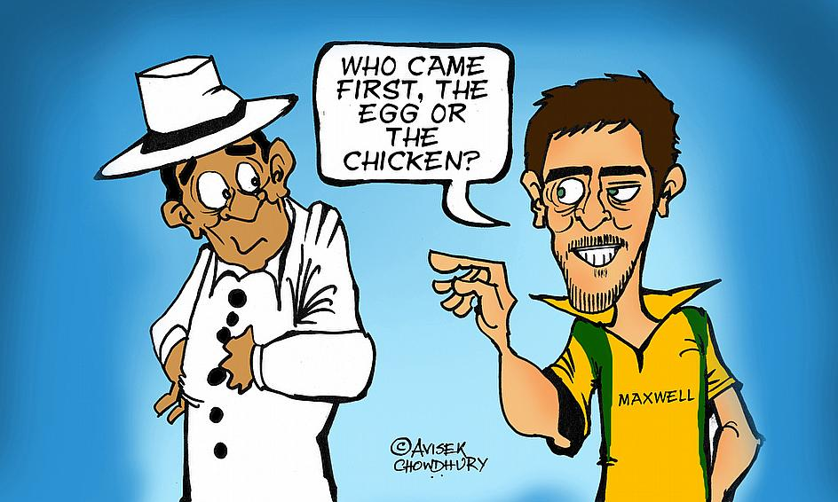 Cartoon: Maxwell Blames Umpires For Anderson's Dismissal