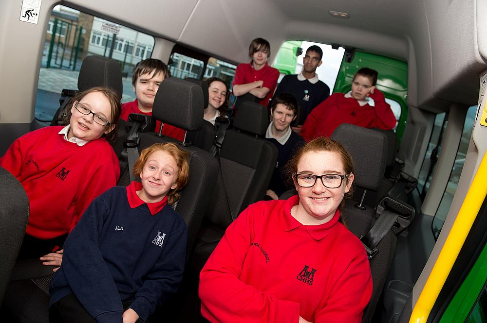 Castle Hill High School are presented with their new minibus