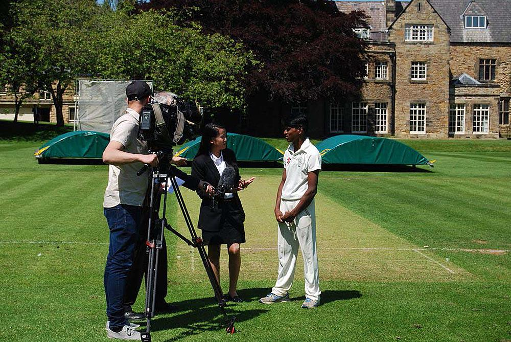 Rupesh is interviewed by BBC Look North during his time at Durham