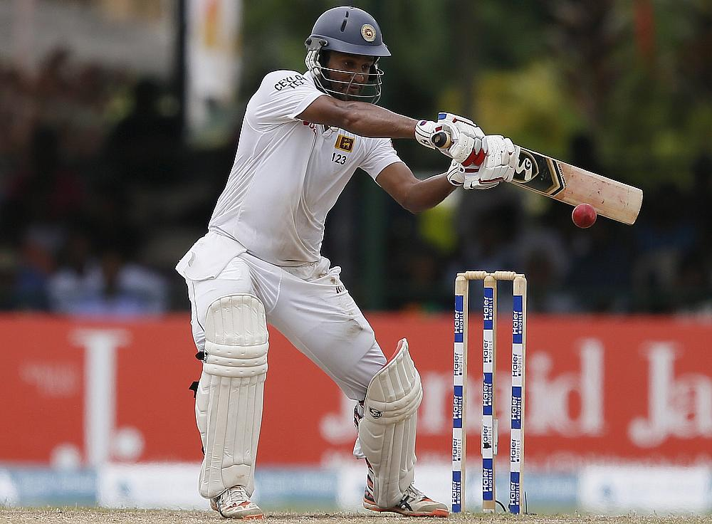 Dimuth Karunaratne, who is in good form for Sri Lanka
