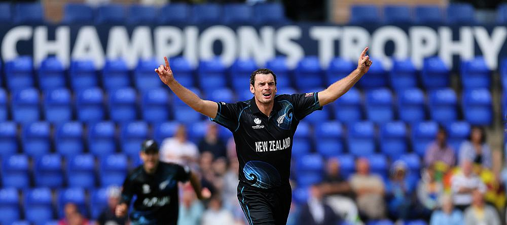 Kyle Mills is the leading wicket taker in the history of Champions Trophy tournaments