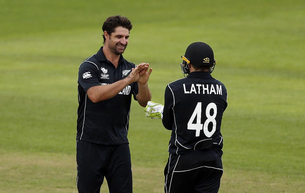 Colin de Grandhomme (left) has been awarded a central contract