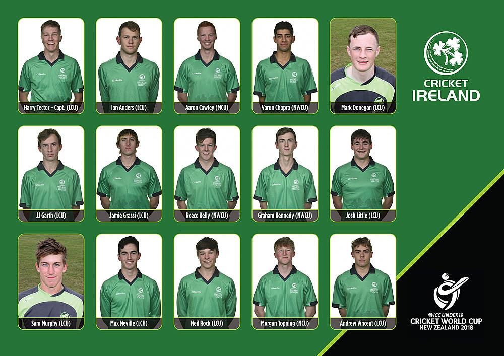 Ireland name under 19 World Cup Squad