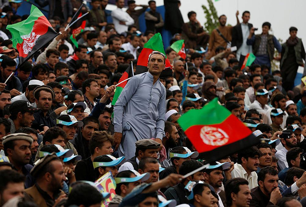 Afghan cricket fans celebrate